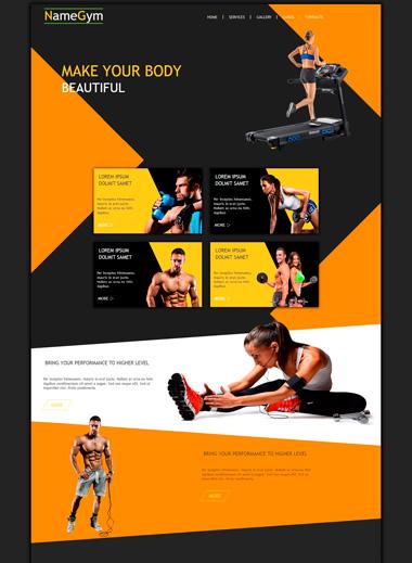 Макет для фитнес-клуба